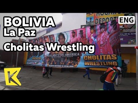 【K】Bolivia Travel-La Paz[볼리비아 여행-라파스]여성 레슬링 경기 촐리타/Cholitas/Wrestling/Woman
