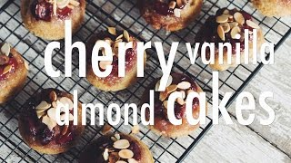 Vegan Cherry Vanilla Almond Cakes | Hot For Food