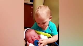 SUPER ADORABLE MOMENT WHEN BIG BROTHERS AND BIG SISTERS MEET NEWBORN BABIES FOR THE FIRST TIME