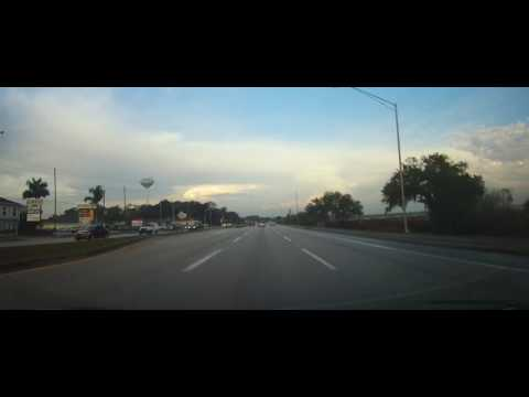 Driving through Sebring, Florida