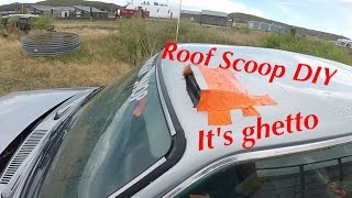 Rallycar roof scoop install!