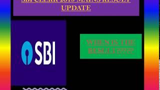 Result Update of SBI Clerk Mains 2018