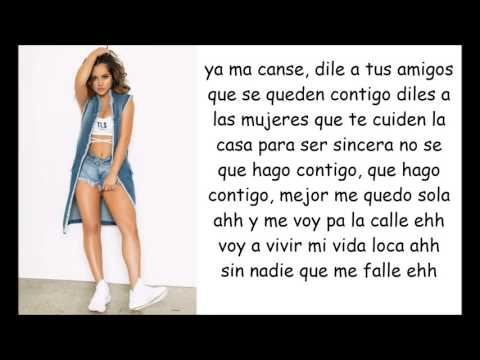 Becky G - Sola (lyrics video)