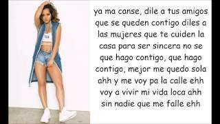 Download Becky G - Sola (lyrics video) Mp3