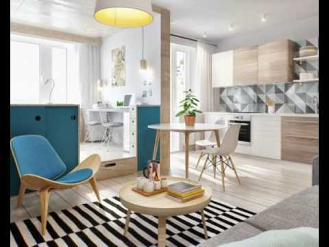 2 simple super beautiful studio apartment concepts for a young couple includes floor plans