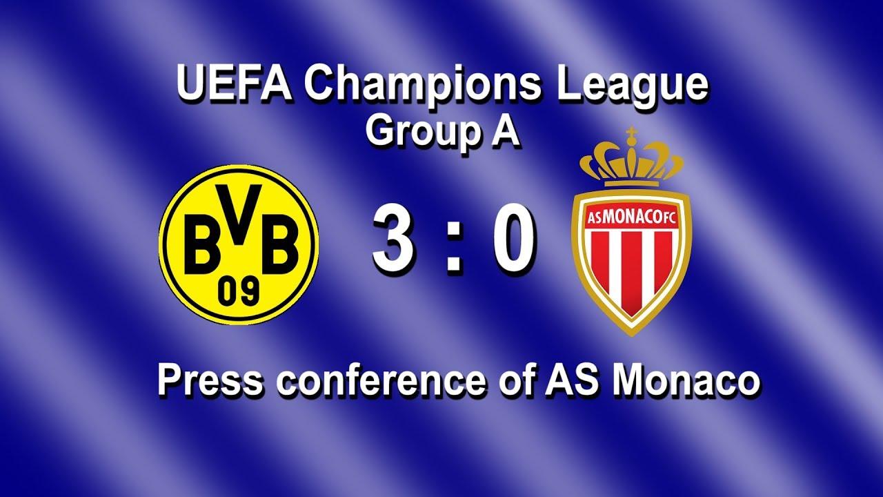 Borussia Dortmund - AS Monaco: Pk mit Leonardo Jardim