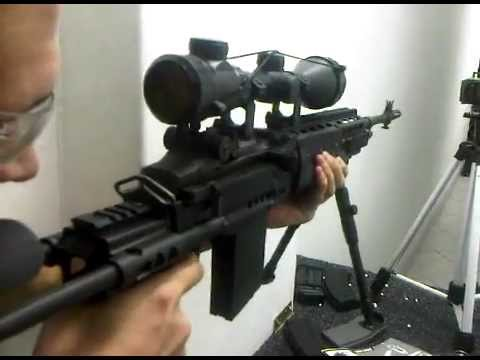 WE M14 EBR Long GBB Rifle out the box test. - YouTube
