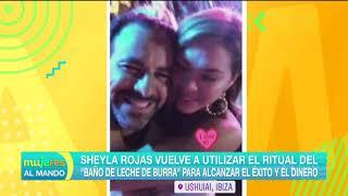Sheyla Rojas se vuelve a bañar en leche de burra