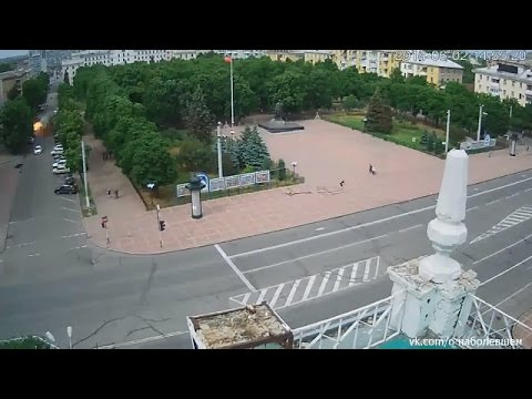 Ukraune War - Russian armed forces hit Lugansk city council with grenade launcher