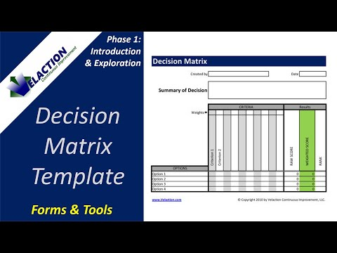 How to create a decision matrix youtube for Decision matrix template free download