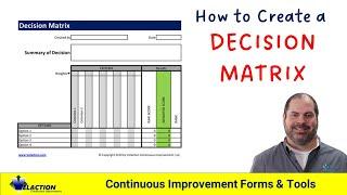 How To Create A Decision Matrix