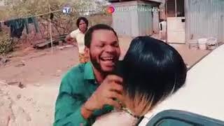 Denilson Igwe of Mark Angel Comedy with a Sex Doll