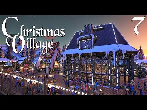 Planet Coaster: Christmas Village (Winter Wonderland) - Ep. 7 - The indoor Venetian Carousel