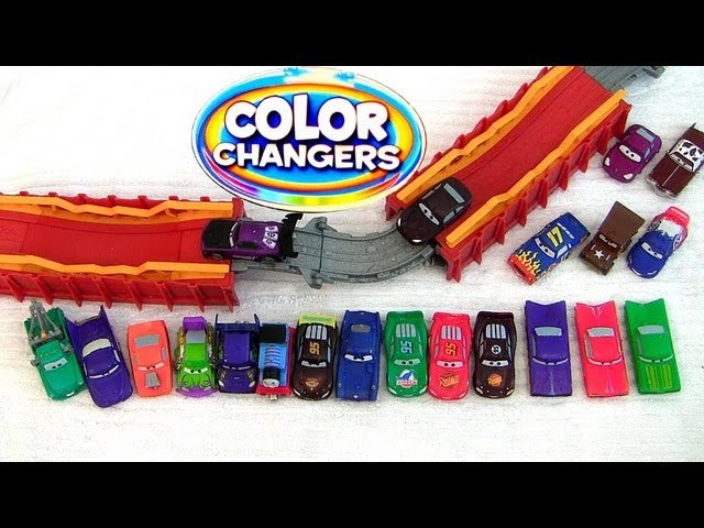 Disney Cars 2 Color Changers Meets Thomas & Friends the Tank Engine Portable Playset Pixar toys Travel Video