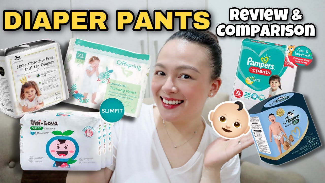 BABY PANTS DIAPER REVIEW & COMPARISON | Mommy Nins Review | Nins Po
