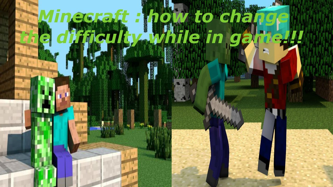 Minecraft : how to change the difficulty while in game!!!