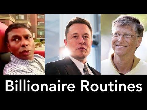 Billionaires Daily Routines - Bill Gates, Elon Musk, Naveen Jain