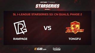 rampage gaming vs tongfu game 1 sl i league starseries season 3 china