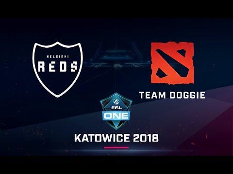 Dota 2 - Helsinki Reds vs Team Doggie - Game 1 - ESL One Katowice 2018 EU Open Qualifier