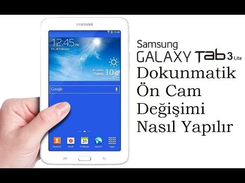 Samsung Galaxy Tab 3 Lite T110 Dokunmatik Ön Panel Değişimi
