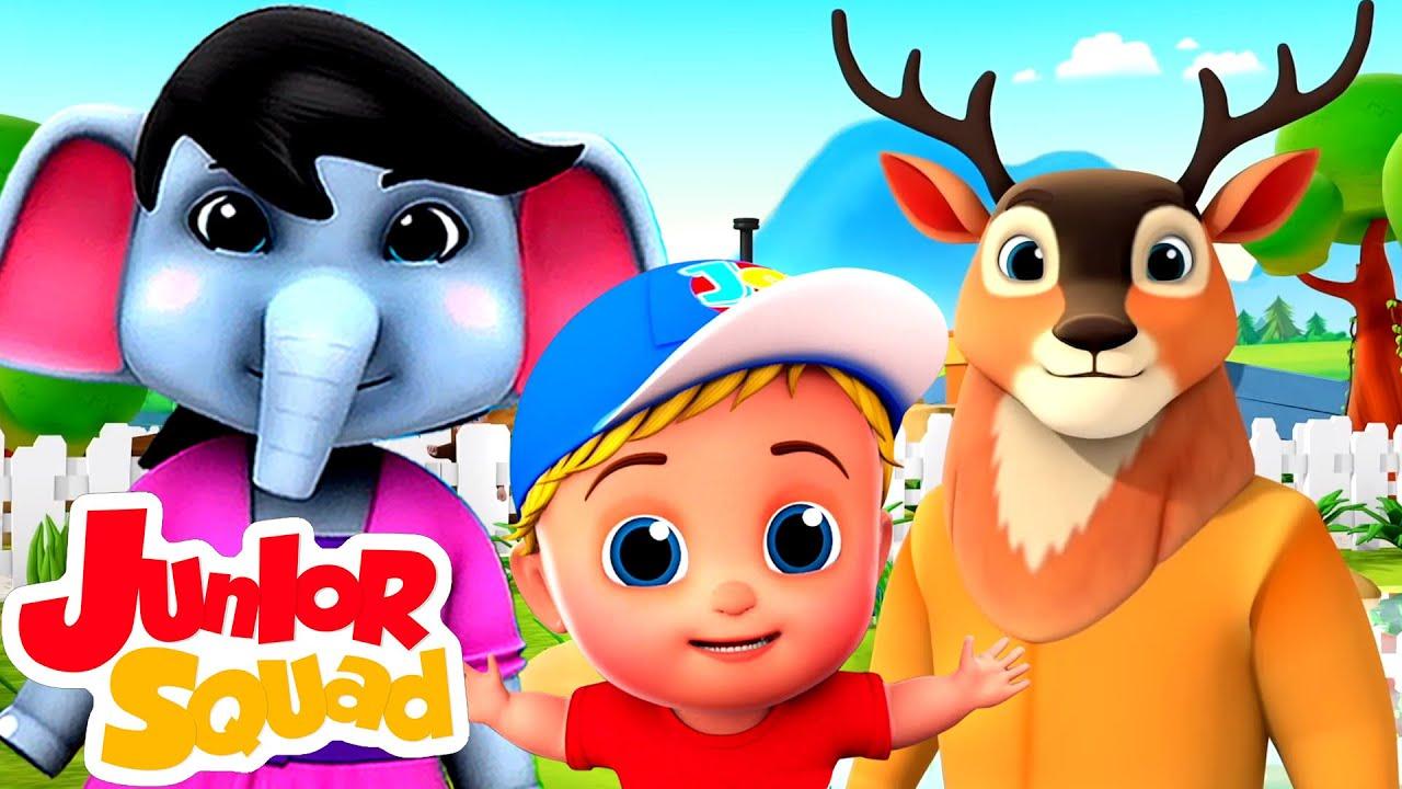 Canción zoológico   Videos educativos   Dibujos animados   Junior Squad Español   Rimas para niños