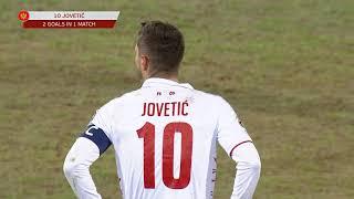 Golčina Stevana Jovetića za Pobedu Crne Gore u Letoniji /1:2/ - SPORT KLUB FUDBAL