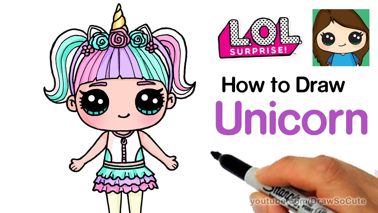 How To Draw Unicorn Lol Surprise Doll Youtube