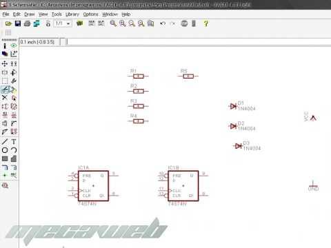 Eagle Layout Editor Video Aula Criando Crcuito - Parte 1 - YouTube