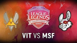 VIT vs. MSF - 3rd Place Decider Game 1 | EU LCS Summer Finals | Vitality vs. Misfits Gaming (2018)