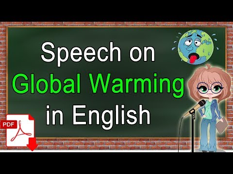 Speech on Global Warming in English | Click How - YouTube