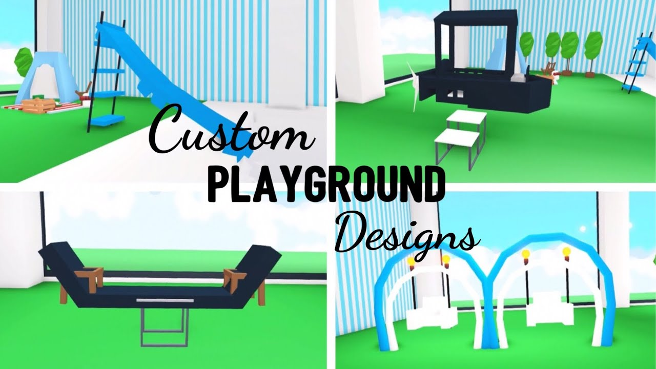 4 Custom PLAYGROUND Design Ideas & Building Hacks (Roblox Adopt me) | Its  SugarCoffee