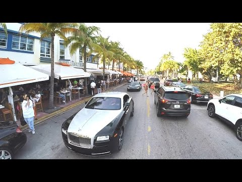 Driving On Miami Beach Ocean Drive