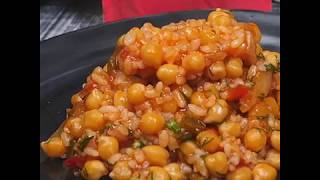 Нут с рисом в томатном соусе | Рецепт отварного нута с рисом
