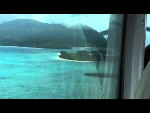 Landing on Mystery Island
