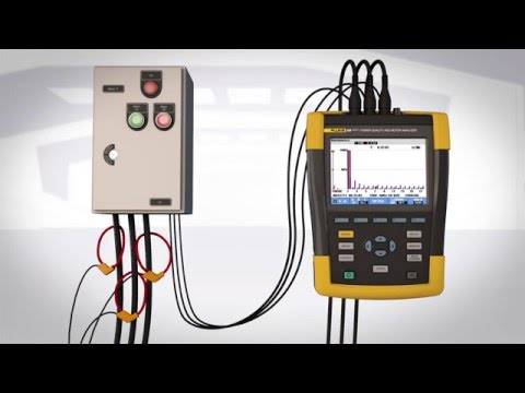The Fluke 438-II Power Quality and Motor Analyzer