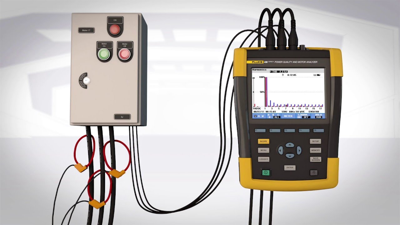The Fluke 438 Ii Power Quality And Motor Analyzer Youtube