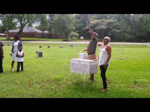 White dove release for Jean Howard at Lincoln Cemetery Dallas, Texas