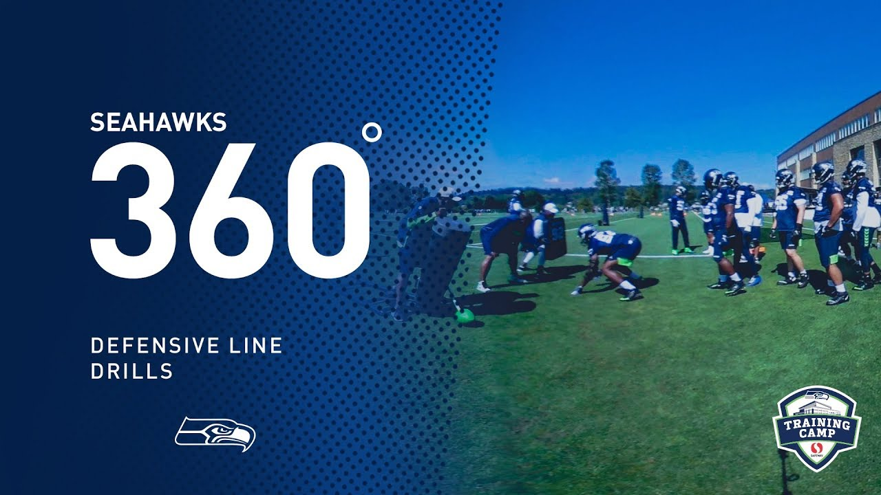 Seahawks 360: Training Camp Defensive Line Drills