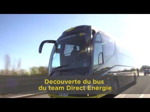 les offs visite du bus team direct energie youtube. Black Bedroom Furniture Sets. Home Design Ideas