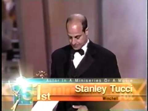 Stanley Tucci wins 1999 Emmy Award for Lead Actor in a Miniseries or Movie
