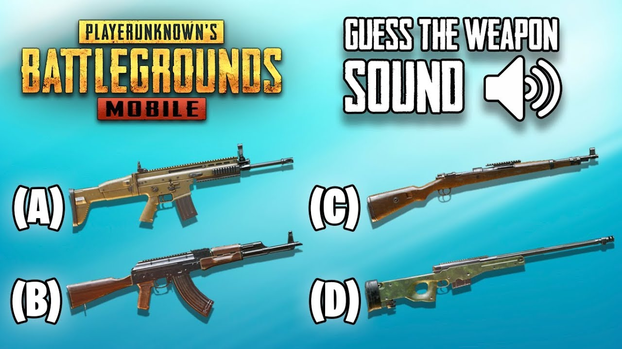 Guess The Weapon Sound in PUBG Mobile | Ultimate Quiz