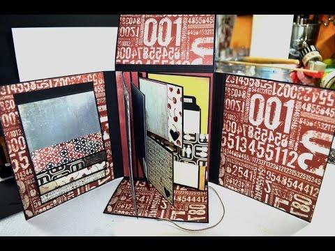 Tutorial,Scrapbooking,Folio,Vintage Mini Album[basteln mit Papier,Deutsch]