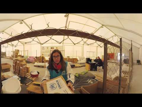 Vídeo 360: la llegada a un campo de refugiados