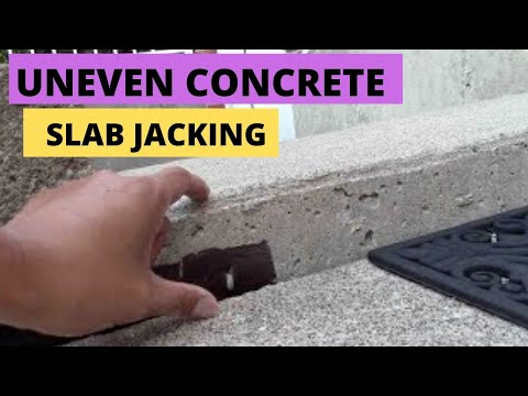 How To Raise Sunken Or Uneven Concrete. Slab Jacking.