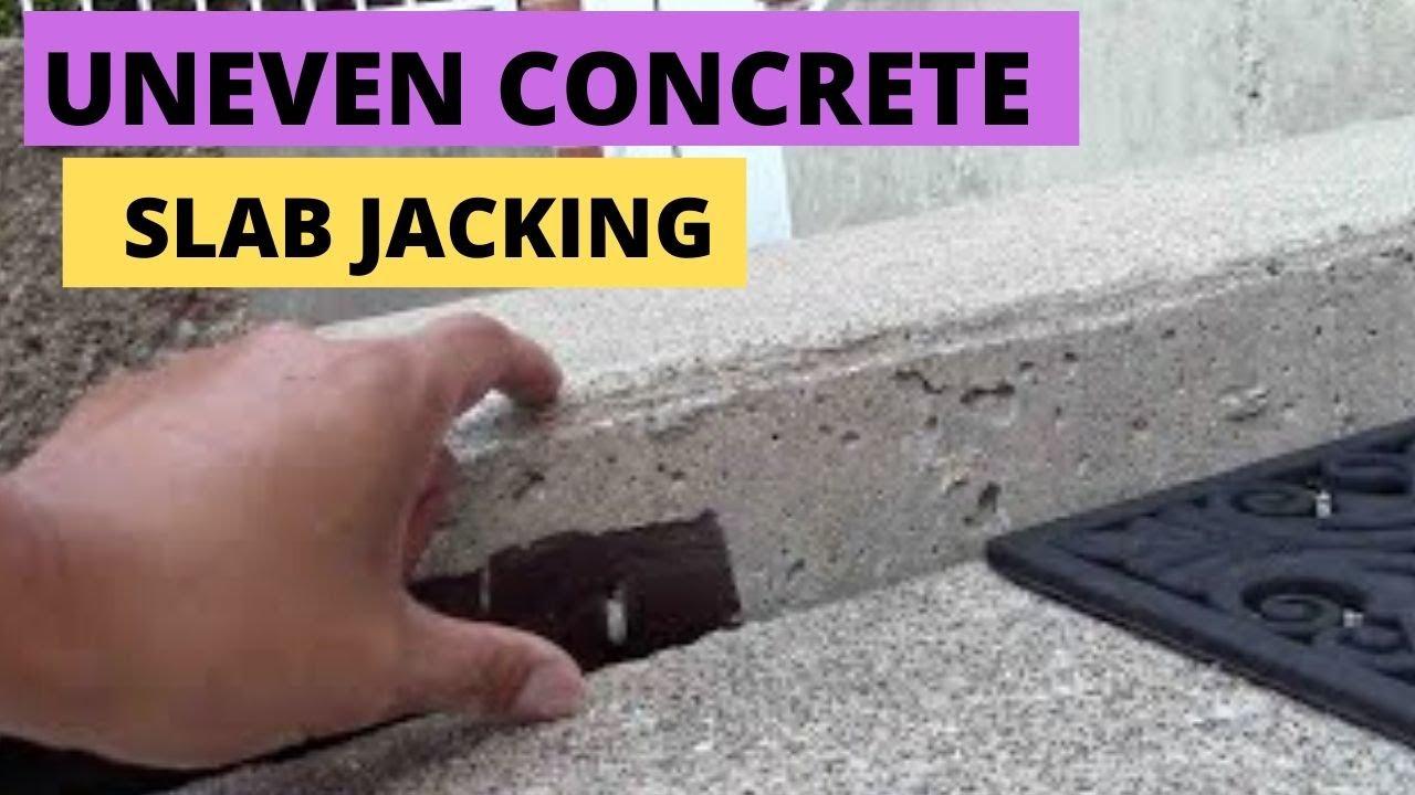 Sunken Or Uneven Concrete Slab Jacking