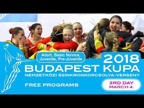 Budapest International Cup | ISU ADVANCED NOVICE - FREE PROGRAMS | 4. March 2018.