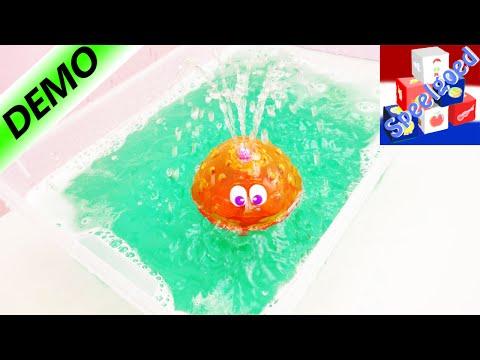 Fonkelfontein waterspeelgoed voor in bad en zwembad – Geeft licht en spuit water – Unboxing & demo
