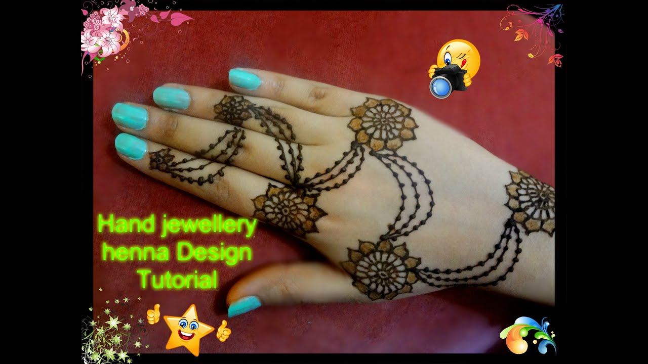 Mehndi Bracelet Designs 2016 : Easy diy beautiful and simple henna mehndi hand jewellery design