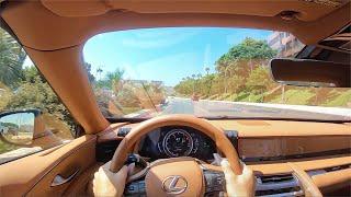 2021 Lexus LC500 Convertible V8 Touring POV Test Drive (3D Audio)(ASMR)