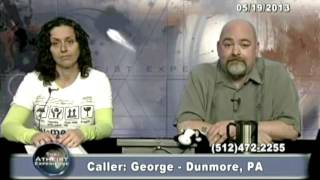 Matt Dillahunty - A believer calls in and get destroyed - Atheist Experience